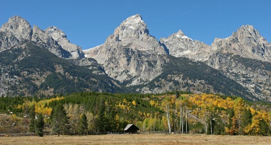 Manges Cabin and Grand Teton