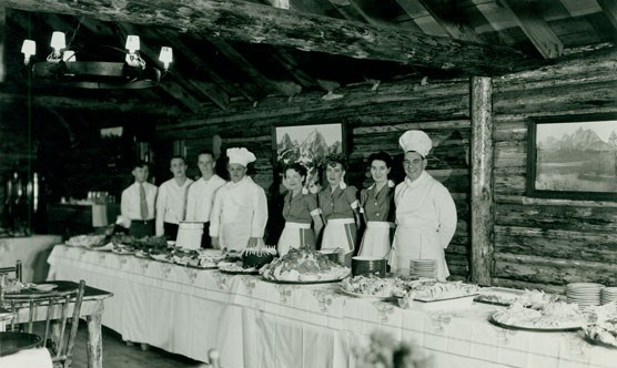 Jenny Lake Lodge Sunday Brunch, 1948