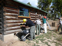 Tauck Tours volunteers at White Grass Ranch