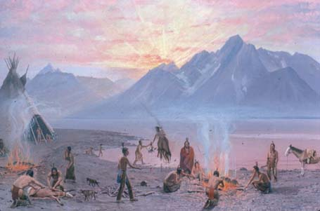 Indians on Jackson Lake