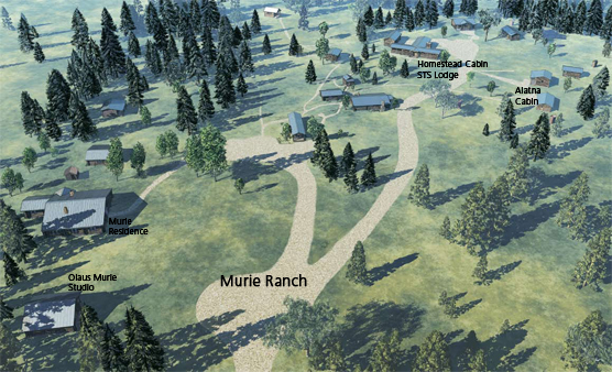 Murie Ranch Map