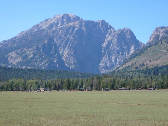 Cultural landscape--view of White Grass dude ranch and death canyon