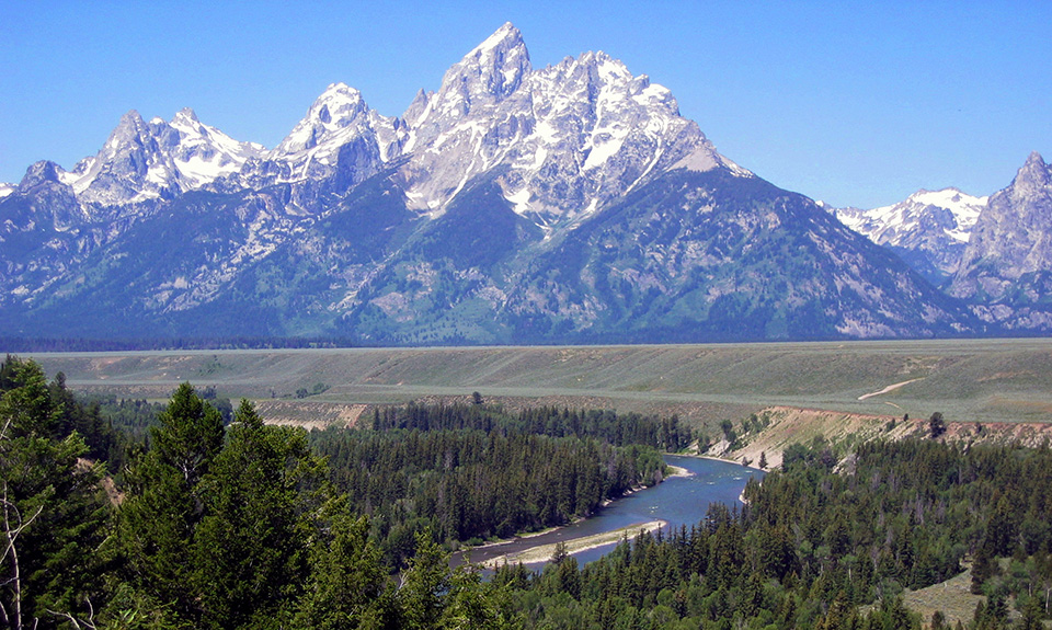 Teton Range from Snake River Overlook.