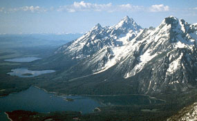 The Teton Range rises out of the valley floor