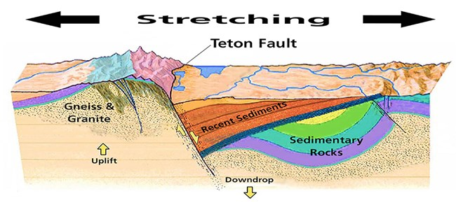 Geologic cross section of Teton Fault