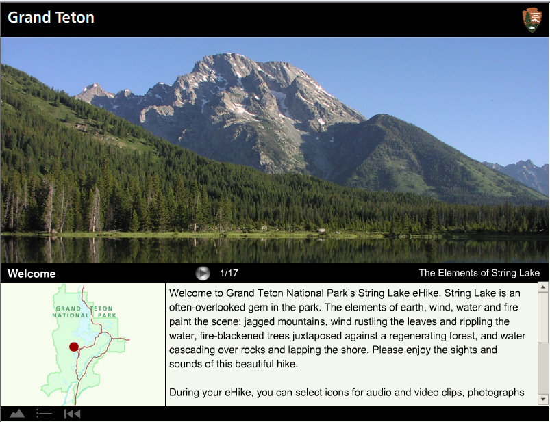 String Lake eHike screen shot