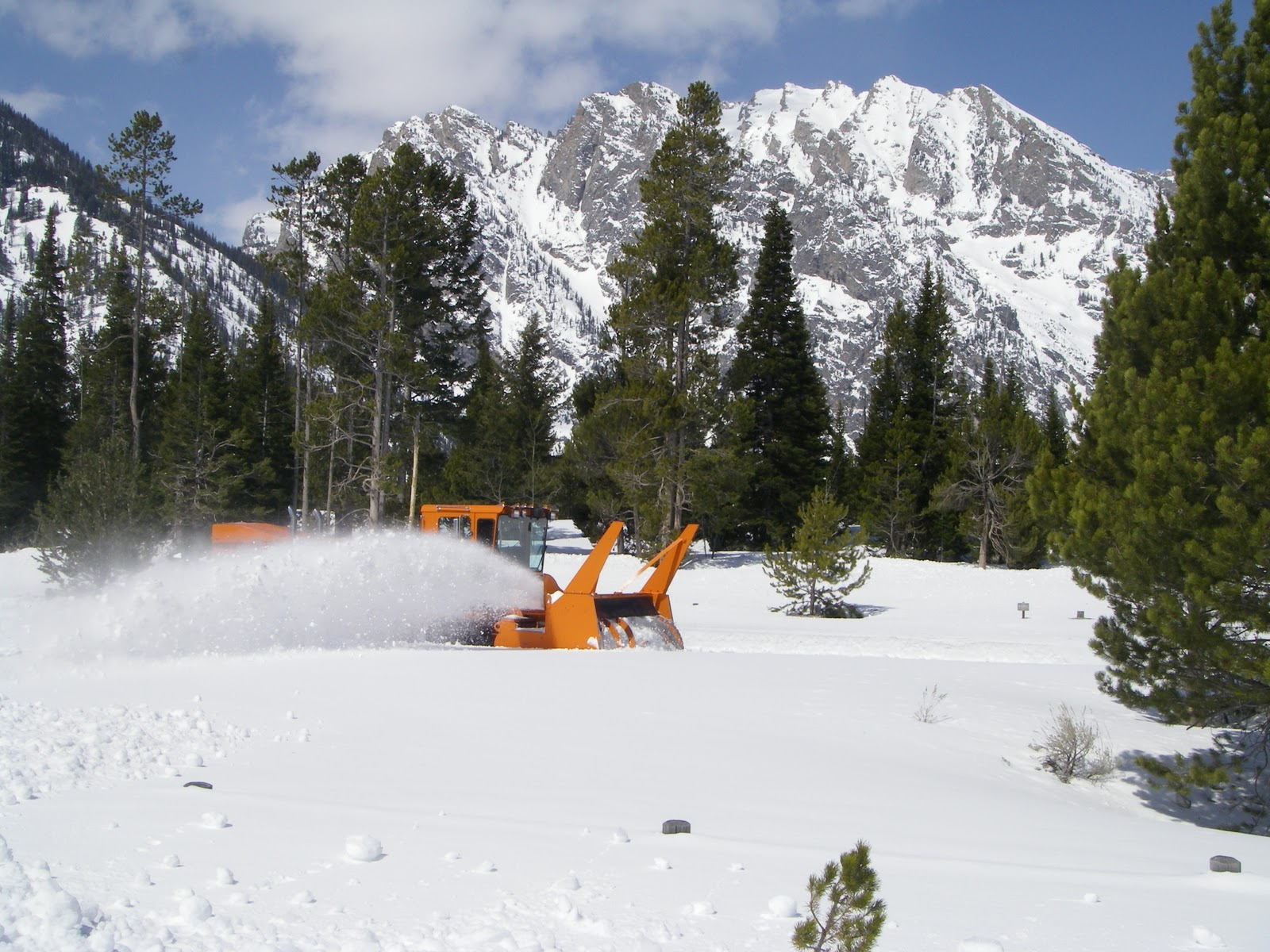 Plowing Park Roads in Spring