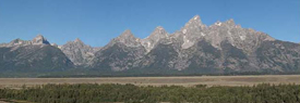 View of Teton Range from Teton Point Turnout.