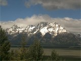 Lost Creek webcam view of the Teton Range