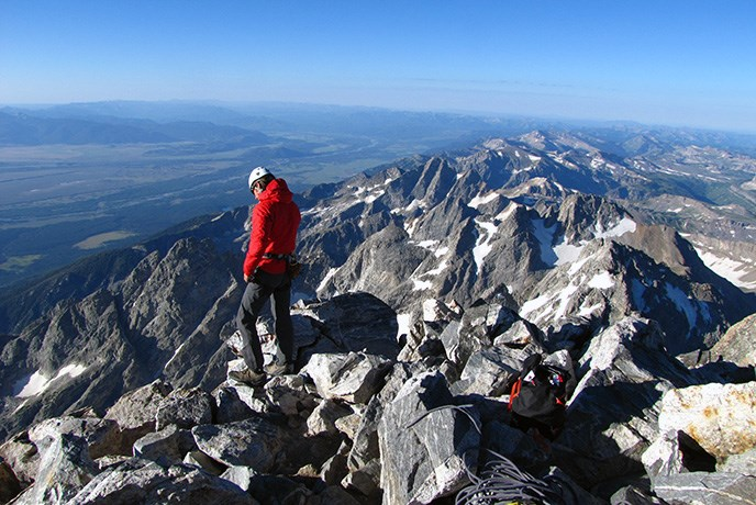 Climber Grand Teton Summit