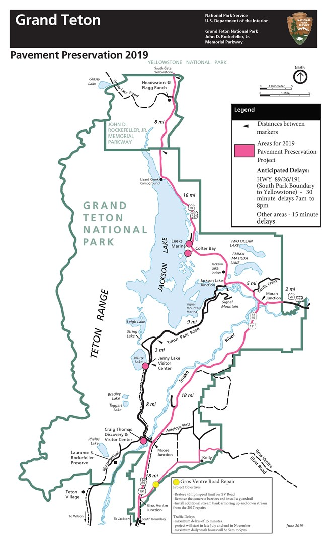 Road Information - Grand Teton National Park (U S  National