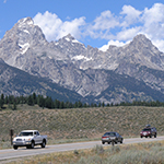 Cars on the Teton Park Road
