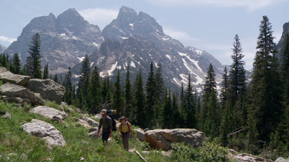 Hikers in Grand Teton National Park