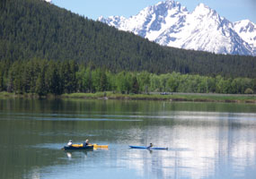 Canoeing Oxbow Bend