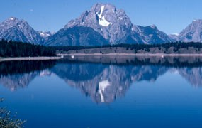Mount Moran reflected in Jackson Lake