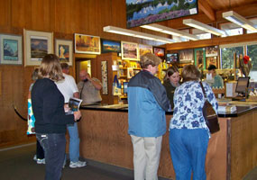 Visitors at Colter Bay Visitor Center
