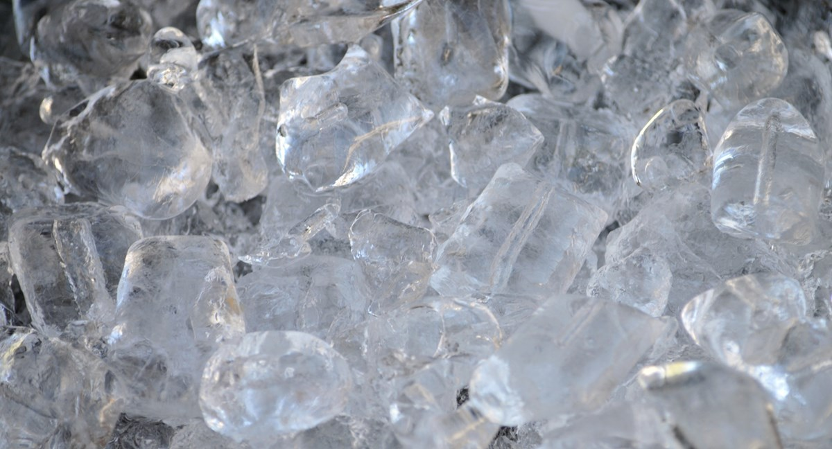 Close-up picture of ice cubes