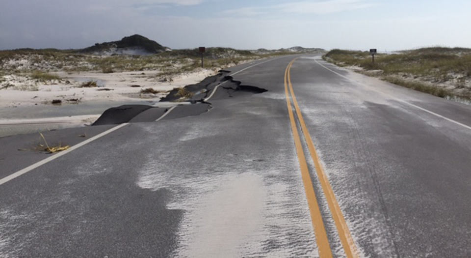 Hurricane Nate caused significant damage to Hwy. 399 through Santa Rosa Area.