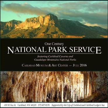 One Century - National Park Service exhibit featuring Guadalupe Mountains and Carlsbad Caverns