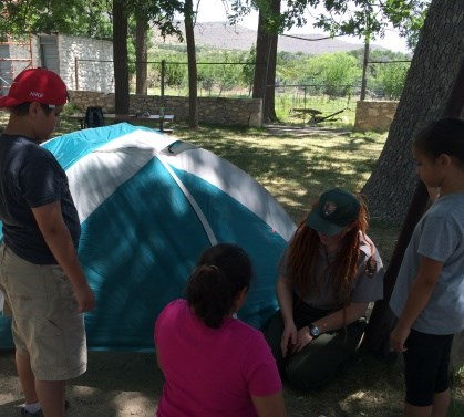 Youths participate in the 2016 JR Ranger camp