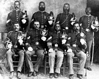 Non-commissioned black soldiers from the 9th cavalry