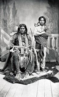 Mescalero Apaches pose for a photograph.