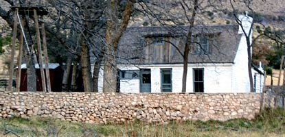 Frijole Ranch was headquarters for the Guadalupe Mountain Ranch.