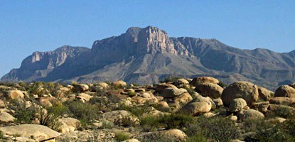 The Guadalupes tower over everything that surrounds them.