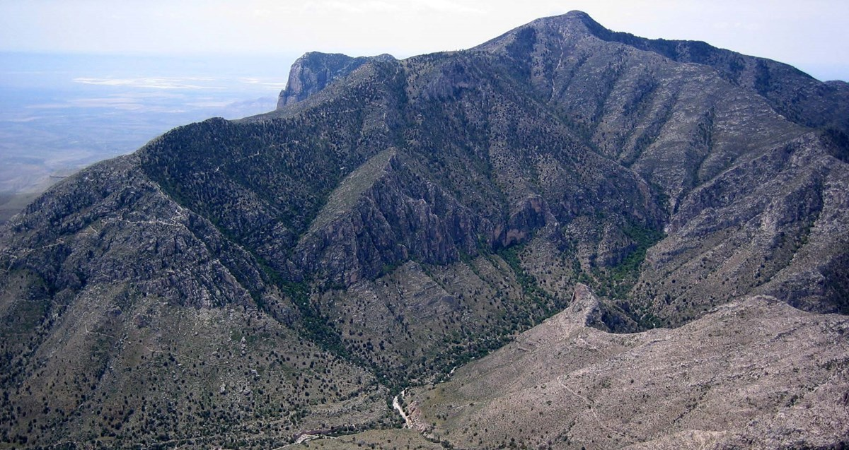Guadalupe Peak seen from Hunter Peak