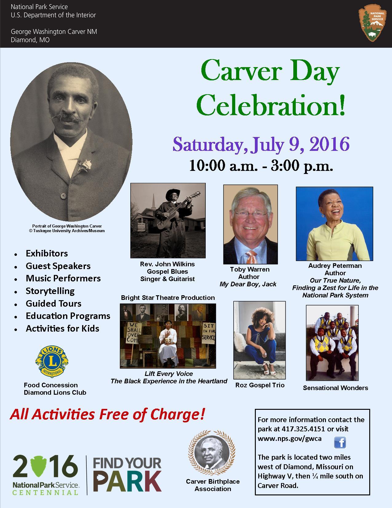 carver day celebration george washington carver national carver day 2016