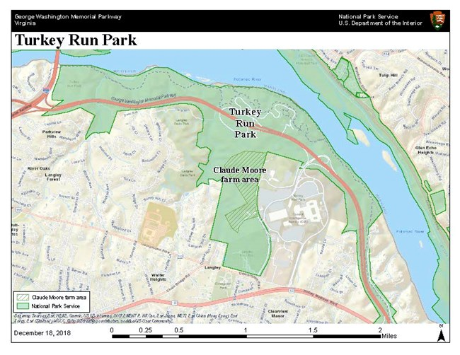 Map of Turkey Run Park