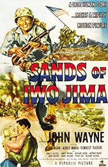 Vintage movie poster for Sands of Iwo Jima