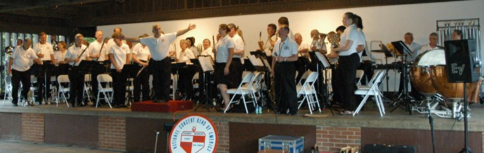 National Concert Band on stage at Fort Hunt