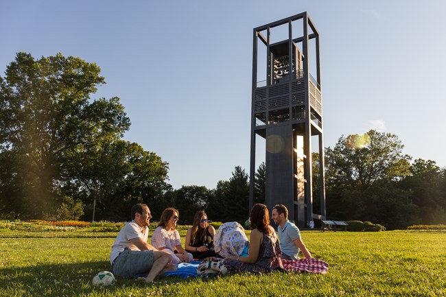People enjoying a Carillon concert