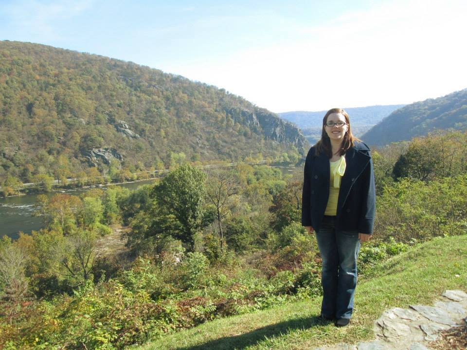 Media Intern Jen Smith at Hilltop House, Photo by Elizabeth Kerwin-Nisbet, 2013