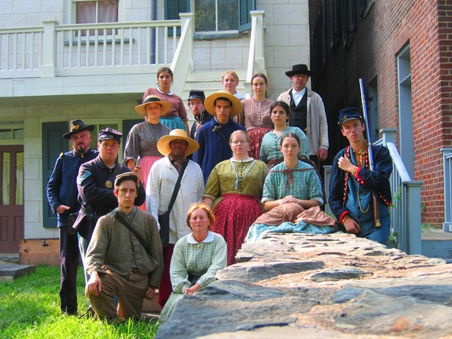 summer 2006 living history staff and intern photo