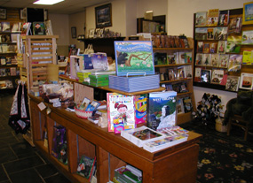 The bookshop offers a variety of books for all ages and interests.