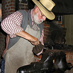 Working in the Blacksmith Shop