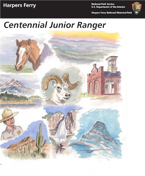 Centennial Junior Ranger Booklet cover