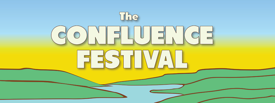 "portion of ""The Confluence Festival"" poster - text and pastel colors"
