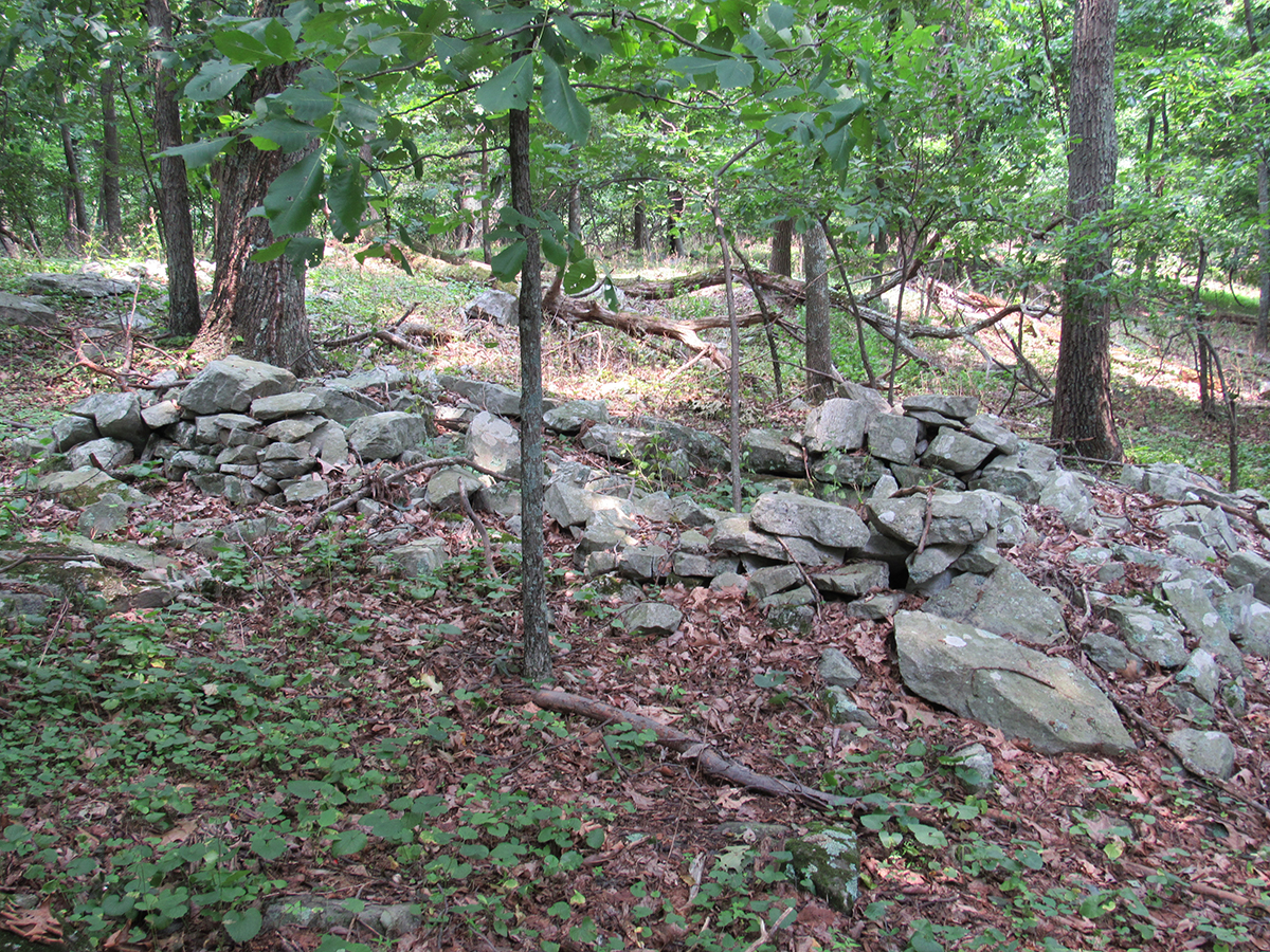 image of rocks and trees - cultural resources on Loudoun Heights