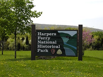 Harpers Ferry NHP entrance sign