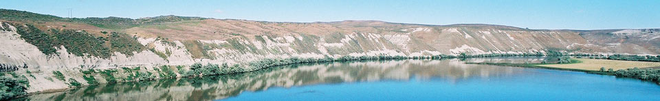 View of the Monument across the Snake River