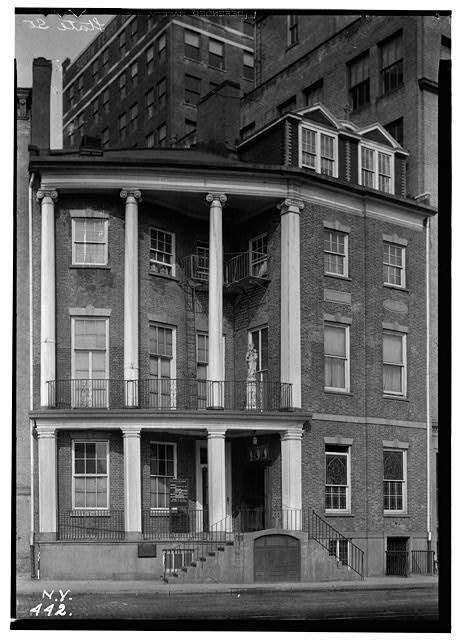 Black and white image of the James Watson House