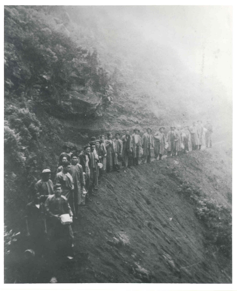Civilian Conservation Corps (CCC) crew working on Halemau'u Trail