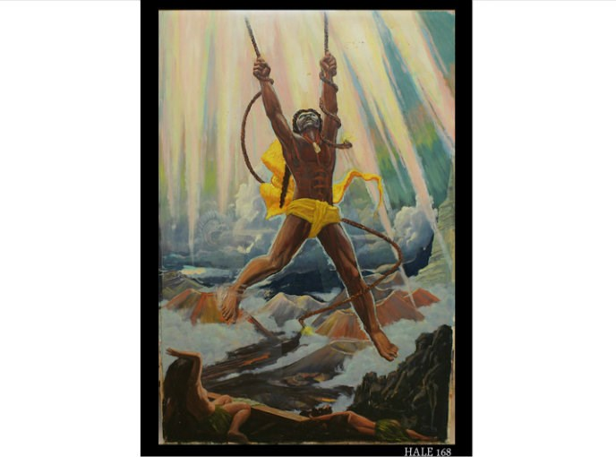The Demigod Maui Snaring the Rays of the Sun