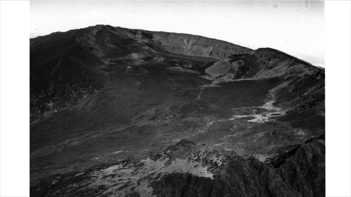 Aerial view of Haleakalā Crater, 1967