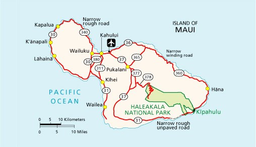 Maui Traffic Map.Maps Haleakala National Park U S National Park Service