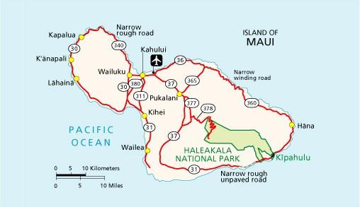 Kapalua Hawaii Map.Maps Haleakala National Park U S National Park Service