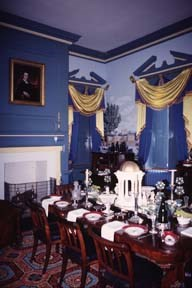 The dining room was designed as a magnificent showplace for entertaining